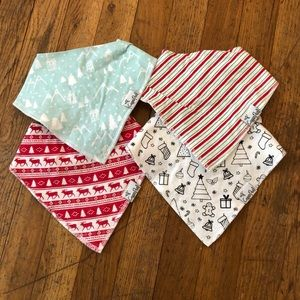 Copper Pearl Christmas Holiday bandana bib set